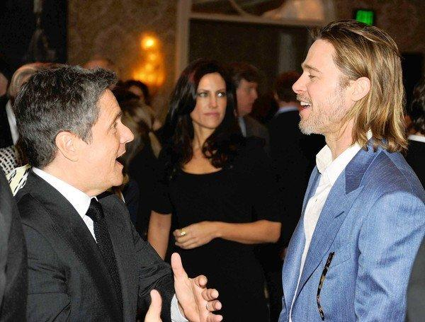 Paramount Pictures Chairman Brad Grey, left, and actor Brad Pitt attend the AFI Awards in Beverly Hills.