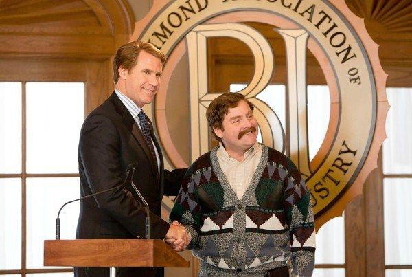 "Will Ferrell and Zach Galifianakis star in ""The Campaign."""