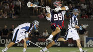 Boston Cannons attackman <strong>Paul Rabil </strong>had two goals, including a two-pointer, and an assist Saturday in a 17-15 win over the Ohio Machine, giving him the new Major League Lacrosse single-season points record of 72.