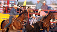 Several cowboys gave the Korkow Rodeos a tip of the hat on Monday.