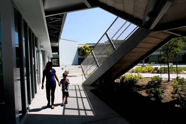 On Tuesday, the new Playa Vista Elementary will welcome about 200 students through its gates.
