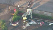 RAW Video: Taxi crashes into pole, kills pedestrian
