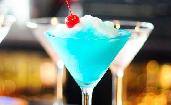 Martini Blu in Orland Hills presents a signature cocktail.