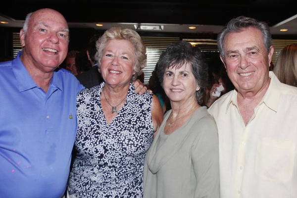 "Ed Mahoney, left, Dee Mahoney, Carol Barba and Tom Barba at the G.W. Bailey First Responders Charitable Fund's  ""Honorable Men in Uniform Cocktails for a Cause,"" which took place at Morton's The Steakhouse Boca Raton and raised nearly $5,000 to support paramedics at Palm Beach State College."