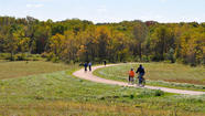 Hickory Creek Bikeway, part of the Forest Preserve District of Will County, can take adventurers on a scenic ride from New Lenox east to Mokena.