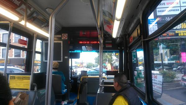 Waited 9 minutes for the No. 81 bus to the Jefferson Park Blue Line station.