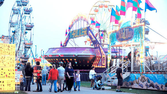 The midway rides and games are always a popular part of the county fair.