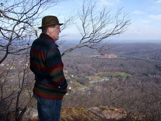 Roger checks out the magnificent views in Big Pocono State Park, Monroe County on November 21, 2009.
