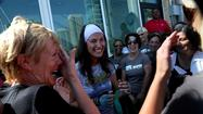 Photos: Rower Jenn Gibbons returns to Chicago