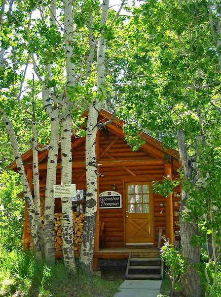 A cozy cabin is nestled amid the trees at Sorensen's Resort in the Alpine County community of Hope Valley, Calif. California's smallest county, in the Sierra Nevada south of Lake Tahoe, offers a relaxing retreat from big city -- or small town -- life.