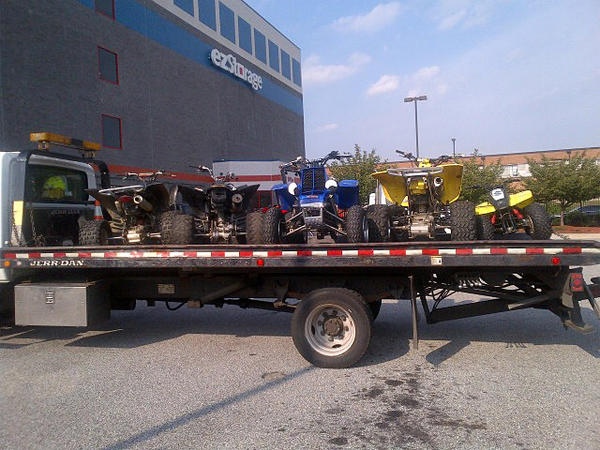 Shown are some of the 15 dirt bikes and all-terrain vehicles Baltimore police confiscated Aug. 8.