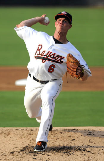 Dylan Bundy makes his first start for the Double-A Bowie Baysox at Prince George's Stadium against the Erie Sea Wolves.
