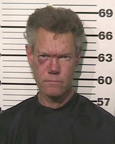 Randy Travis, in his booking photo after his drunk-driving arrest last week in Texas.