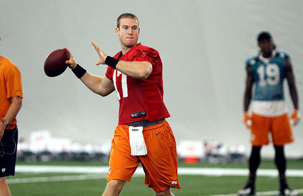 Quarterback Ryan Tannehill (17) during practice at Miami Dolphins camp on Wednesday, August 15, 2012.