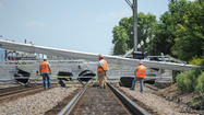 Metra tracks blocked