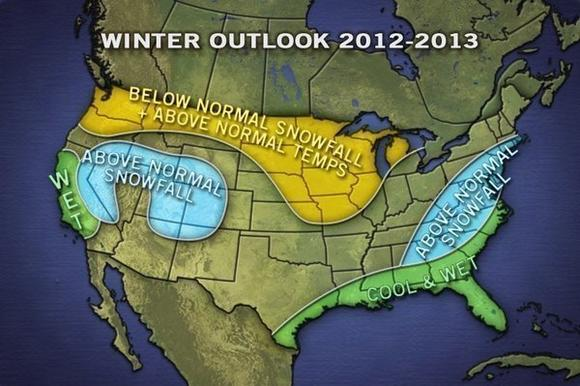 Winter snow forecast