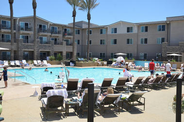 At $349 a night, the rooms at the Hilton Carlsbad Oceanfront Resort are pricey, but everything is new and shiny, most of the rooms have ocean views, there's a spa and a big pool with a neighboring baby pool, and when the summer masses go home, those rates will ebb.
