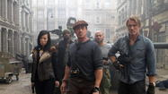 "Of course,""The Expendables 2""is all good fun and games and recycled catchphrases. Until somebody gets hurt. A lot of somebodies."