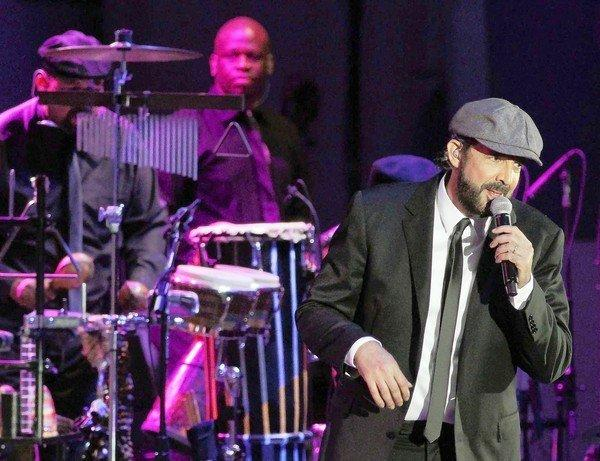 Dominican Republic singer-songwriter Juan Luis Guerra performs with Gustavo Dudamel and the Los Angeles Philharmonic at the Hollywood Bowl.