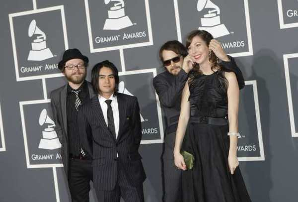 "The Silversun Pickups, shown at this year's Grammy Awards, have asked Mitt Romney's campaign to stop using their song ""Panic Switch."""
