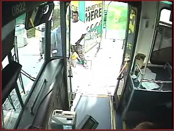 Broward Sheriffs detectives are searching for a man seen, on surveillance video, stealing a gold chain from another man at a bus stop.
