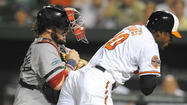 For more than five innings Wednesday night, the Orioles were foiled and frustrated by Red Sox sinkerballer Aaron Cook, whose pitches tempted the O's into weak groundout after groundout. Cook held the Orioles without a hit through the first 5 1/3 innings, with the O's hitting just one ball out of the infield in that span.