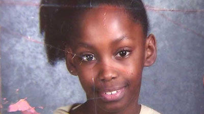 A photo of Crystal Booker, 12, who was shot in the leg as she did homework in front of her home in the Marquette Park neighborhood.