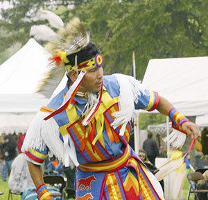 Matthew White Eagle, Mic-Mac, Canada, will perform at the Roasting Ears of Indian Corn Festival.