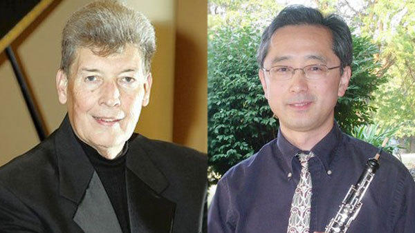 Allan Birney, left, will be harpsichordist in Bach's fifth Brandenburg Concerto and Nobuo Kitagawa solos in C.P.E. Bach's Oboe Concerto in E Flat at the final summer Valley Vivaldi on Sunday at Wesley Church in Bethlehem