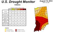 Report shows less of Indiana in extreme drought