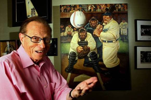 "Larry King has a new talk show, ""Larry King Now,"" on Hulu."