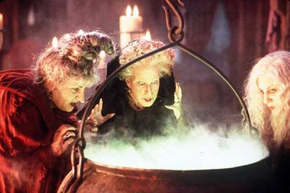 "Kathy Najimy, Bette Midler and Sarah Jessica Parker are 17th century witches in the film ""Hocus Pocus."" No such witchcraft will be allowed on EBay."