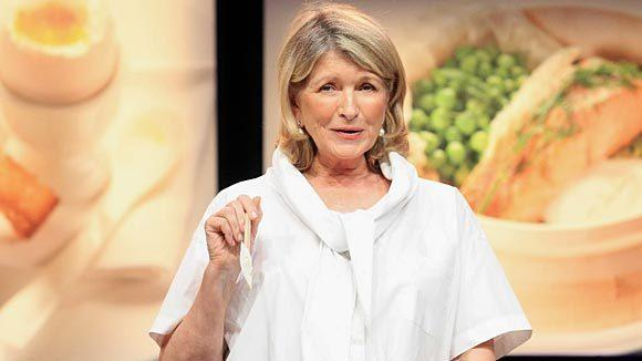 "TV personality Martha Stewart speaks onstage at the ""Matha Stewart's Cooking School"" panel during the 2012 Summer TCA Tour held at the Beverly Hilton Hotel in July."