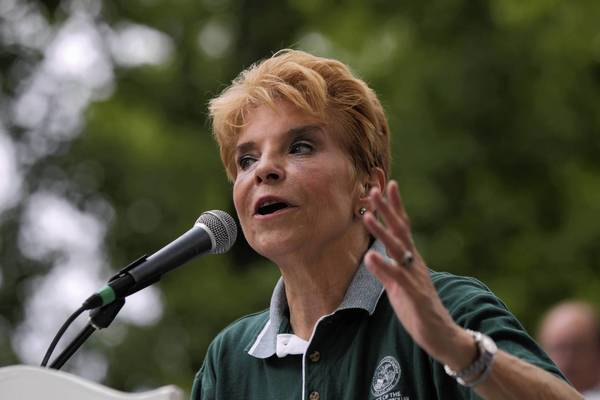 "Democratic comptroller Judy Baar Topinka talks politics during Republican Day at the Illinois State Fair in Springfield. ""Have you ever seen such a muddle on the Democratic end in your life?"" asked Topinka, reveling at how she ""felt a little sorry for the good governor yesterday, but you know, he kind of asked for it."""