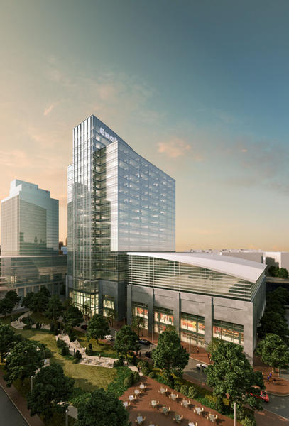 An artist's rendering of what the new Exelon HQ could look like.