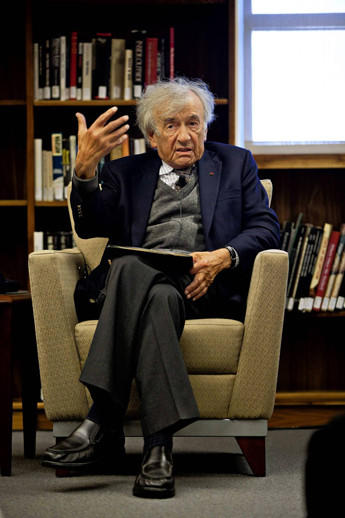 Elie Wiesel, the Nobel Peace Prize laureate and Holocaust chronicler.