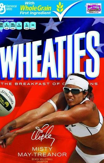Misty May-Treanor will be featured on limited edition packages of Wheaties.