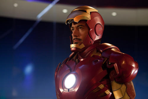"Robert Downey Jr.as Tony Stark, a.k.a. Iron Man, in the movie  ""Iron Man 2.""<br><br>  Robert Downey Jr., the hammy captain of the massive ""Avengers,""  hurt his ankle mid-stunt in August 2012 on the set of ""Iron Man 3"" on location in Wilmington, N.C. The film will be temporarily delayed while Downey recuperates."