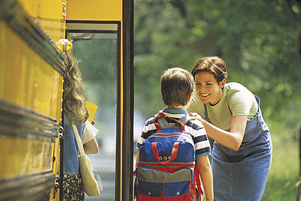 Starting school can be emotionally difficult for parents as well as children. However, it is important for parents' to maintain a brave face.