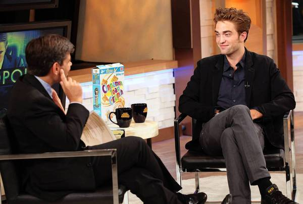 "Robert Pattinson is interviewed by George Stephanopoulos on ""Good Morning America."""