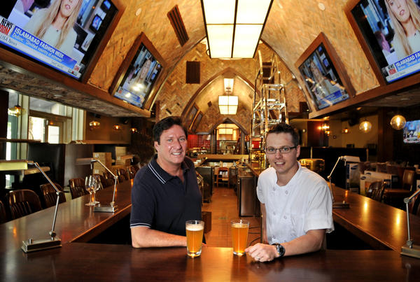 Joe Upchurch, owner  of The Royal Pig Pub & Kitchen and his executive chef Stanton Bundy