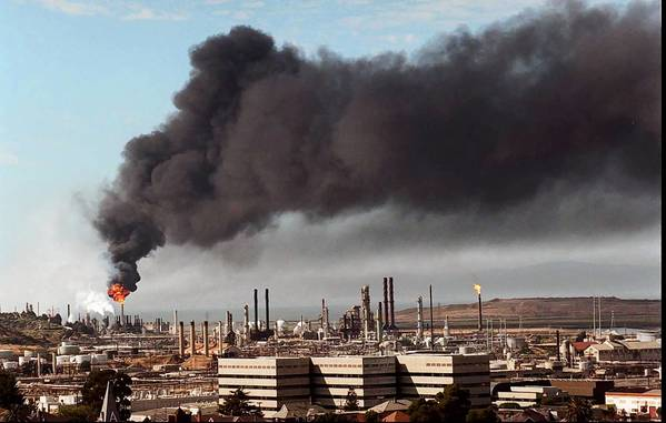 What is the future of Chevron's refinery in Richmond, shown here in 1996?