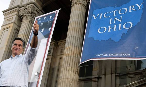 Mitt Romney campaigns in Ohio. Trying to fend off Democrats' criticism of his refusal to release more tax returns, he says his federal tax rate was at least 13% during each of the last 10 years.