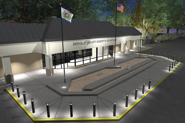 This artist's rendering shows Berkeley County, W.Va.'s new public safety building for the sheriff's departments law-enforcement division.