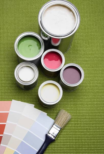 Fresh paint will make your house look clean and bright.
