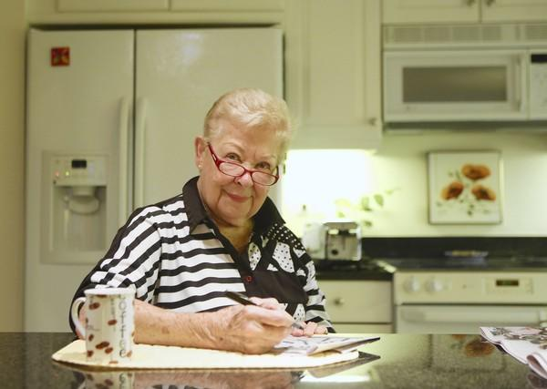 """Barb Shaeffer, 85, of Chicago, does two crossword puzzles every morning. She often completes an entire book on her Kindle in a day and is preparing for her three fall classes, one of which she co-teaches, through a Northwestern University program for retirees. """"It's attitude,"""" she says. """"I don't care what you do, it's attitude."""