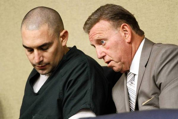 Former Westminster police Det. Anthony Orban, left, is shown with attorney James Blatt, who called for an investigation into alleged juror misconduct.