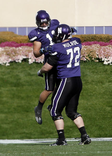 Northwestern left guard Brian Mulroe is a three-year starter and a leader for the Wildcats.