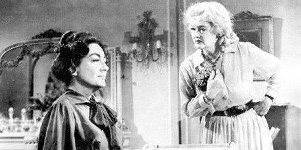 "Joan Crawford, left, and Bette Davis in ""What Ever Happened to Baby Jane?"" in 1962."