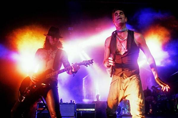 Jane's Addiction performs at the Mann Center for the Performing Arts in Philadelphia on Wednesday, Aug. 15.